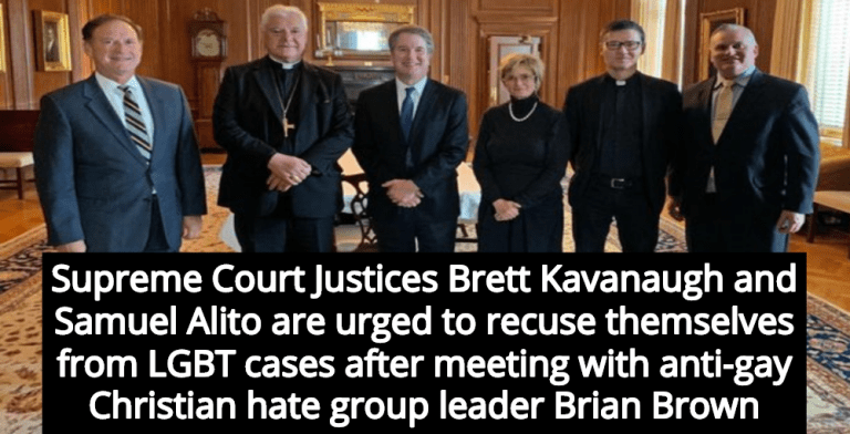 Justices Alito and Kavanaugh Meet With Leader Of Anti-Gay Christian Hate Group (Image via Twitter)