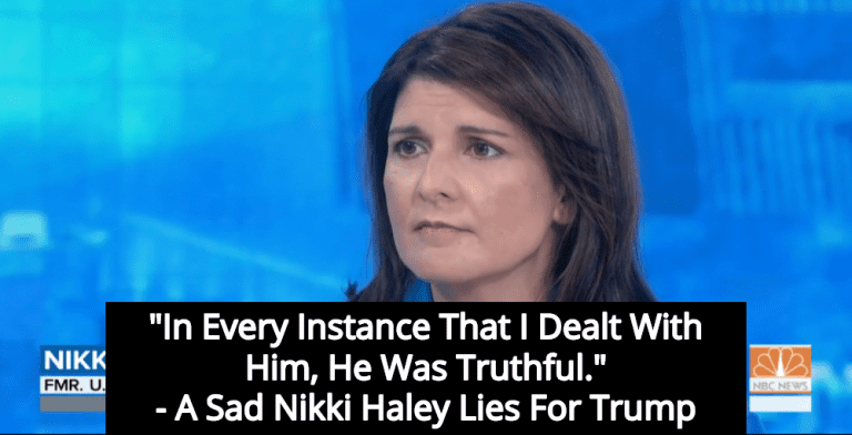 Nikki Haley Insists Donald Trump Is Competent And Always 'Truthful' (Image via Screen Grab)