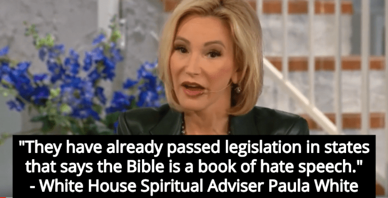 White House Spiritual Adviser: States Will Outlaw Bible If Trump Is Defeated (Image via Screen Grab)