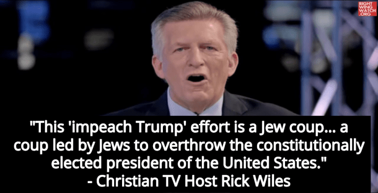 Christian TV Host Warns Followers Trump Impeachment Is 'Jew Coup' (Image via Screen Grab)