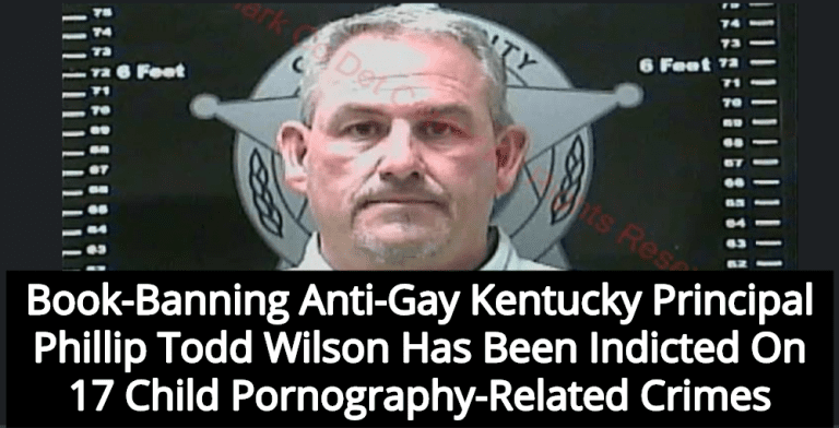 Kentucky Principal Who Banned Gay Friendly Books Indicted For Child Pornography (Image via Clark County Detention Center)