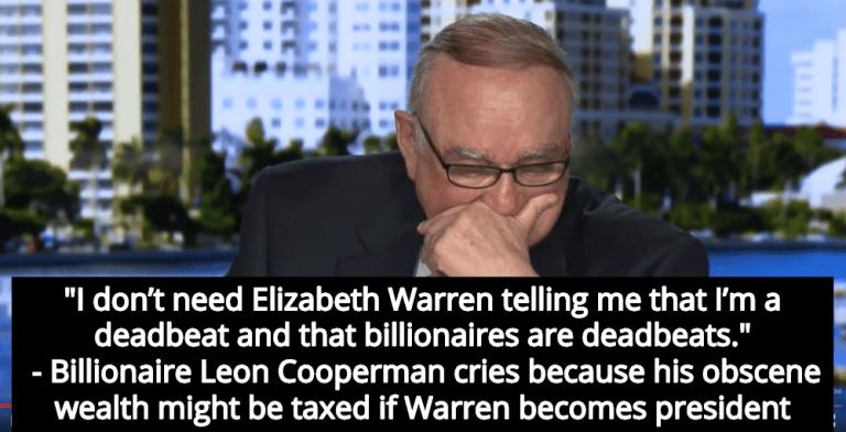Elizabeth Warren's Wealth Tax Makes Billionaire Leon Cooperman Cry (Image via Screen Grab)