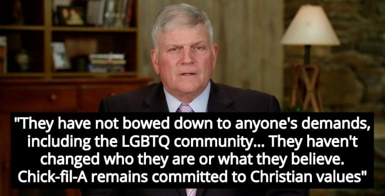 Franklin Graham Promises Christians Chick-fil-A Will Keep Hating The Gays (Image via Facebook)
