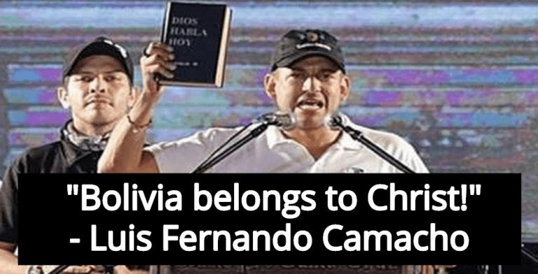 Christian Fascist Luis Fernando Camacho Leads 'Racist Coup' In Bolivia (Image via Screen Grab)