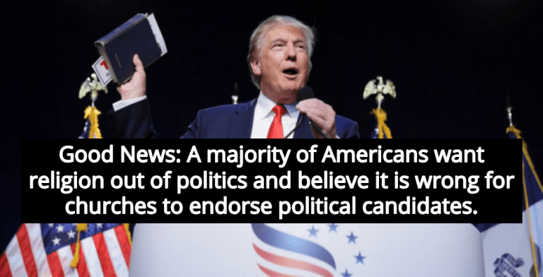 Survey Shows Majority Of Americans Want Religion Out Of Politics (Image via YouTube)