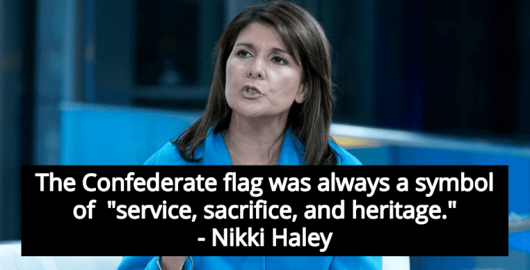 Nikki Haley Defends Confederate Flag As Symbol Of 'Service, Sacrifice, Heritage' (Image via Screen Grab)