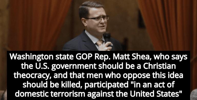 Report: Christian Lawmaker Matt Shea Participated In 'Domestic Terrorism' (Image via Screen Grab)