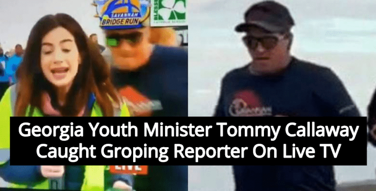Georgia Youth Minister Tommy Callaway Caught Groping Reporter On Live TV (Image via Facebook)