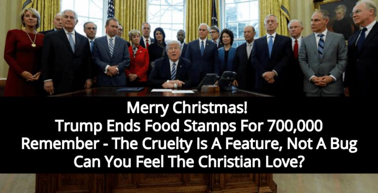 Trump Administration Ends Food Stamps For 700,000 Unemployed Americans (Image via Twitter)