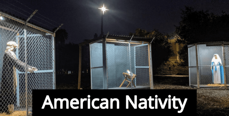American Nativity: Baby Jesus In A Cage Shames White Conservative Christians (Image via Facebook)