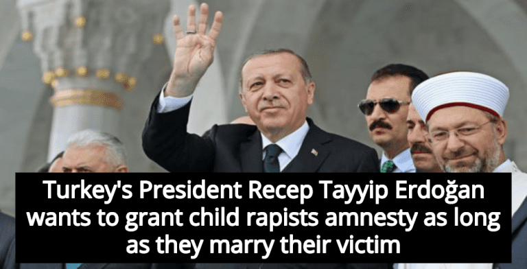 'Marry Your Rapist' Bill In Turkey Legalizes Child Marriage, Gives Amnesty To Child Rapists (Image via Twitter)