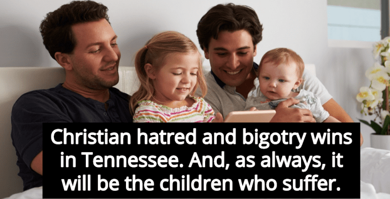 Allows Adoption Agencies To Reject Gay Parents (Image via Twitter)