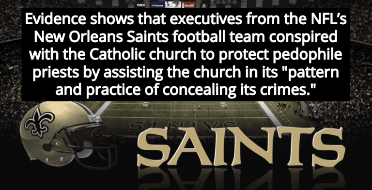 Report: New Orleans Saints Conspired With Catholic Church To Protect Pedophile Priests (Image via YouTube)