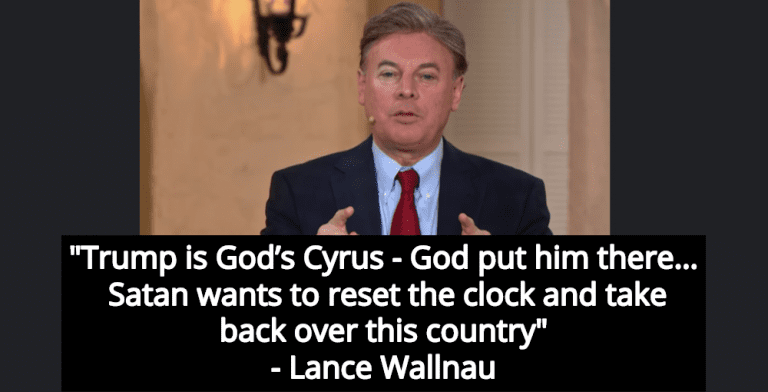 Preacher: God Put Trump In Office, But Satan Wants To 'Take Back Over This Country' (Image via YouTube)