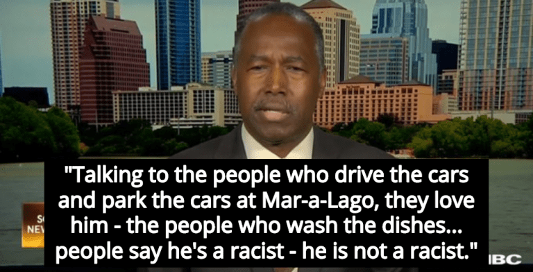 Ben Carson: Trump Isn't Racist, His Servants Love Him (Image via Screen Grab)
