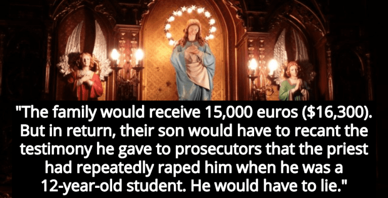Report: Catholic Church Offered Abuse Victim Money To Lie In Court (Image via YouTube)
