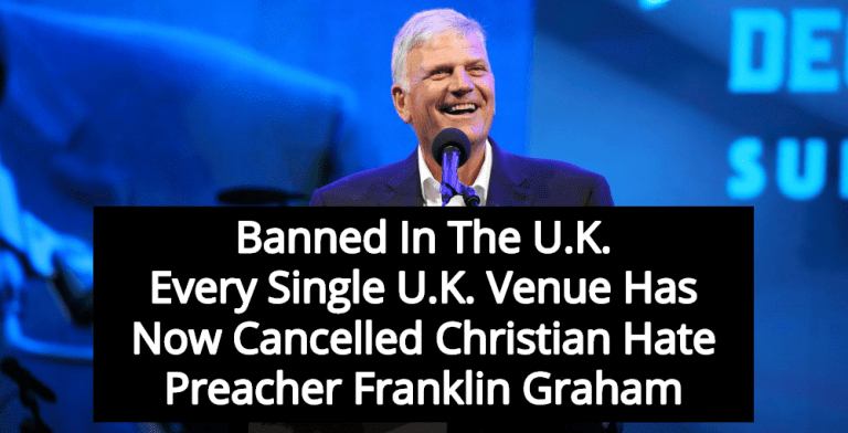 Franklin Graham Banned In UK For Anti-Gay Christian Hate Speech (Image via Twitter)