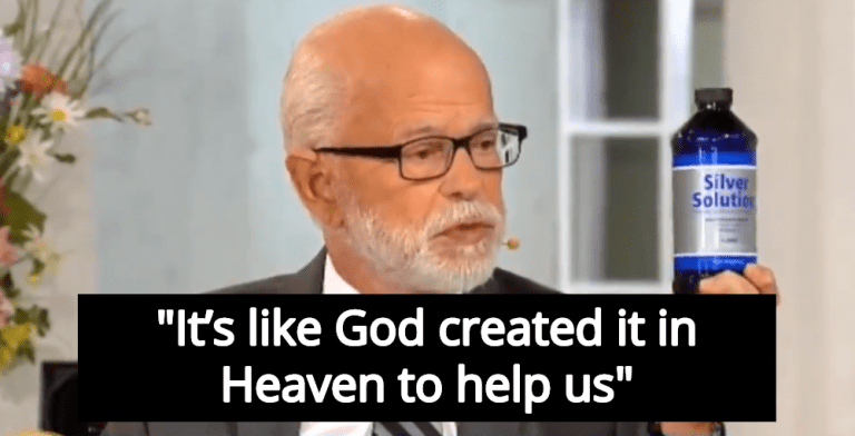 Televangelist Jim Bakker: My Magic Silver Solution 'Kills Every Venereal Disease' (Image via Screen Grab)