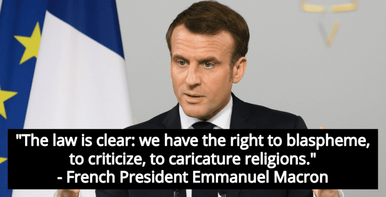 French President Macron Defends Young Critic Of Islam: Blasphemy 'Is No Crime' (Image via Facebook)