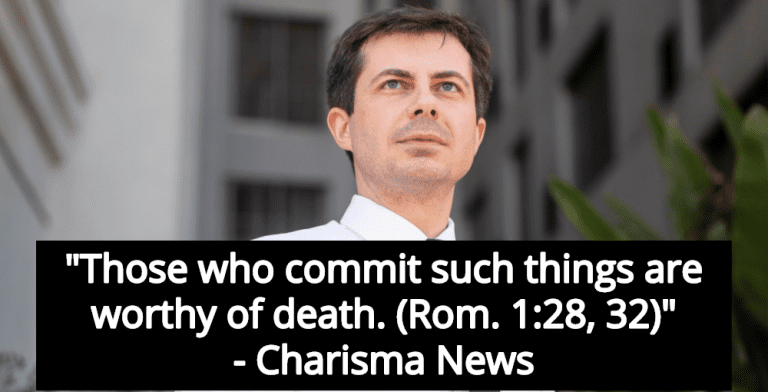 Christian News Site: Pete Buttigieg 'Is Deserving Of Death' For Being Gay (Image via Facebook)