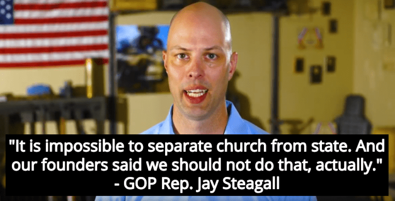 Oklahoma Lawmaker Claims Separation Of Church And State Is 'Impossible' (Image via YouTube)