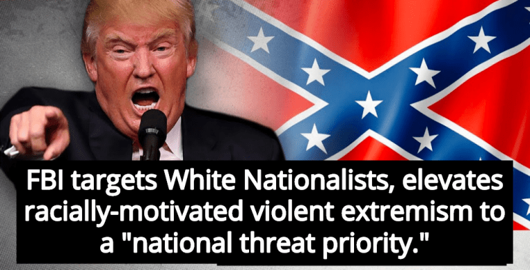 Report: FBI Elevates White Nationalists And Nazis To 'National Threat Priority' (Image via Twitter)