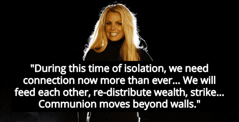 Comrade Britney Spears Calls For Wealth Redistribution, General Strike (Image via YouTube)