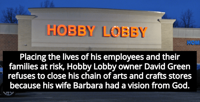 Hobby Lobby Stays Open Because Owner's Wife Had Vision From God (Image via Wikipedia)