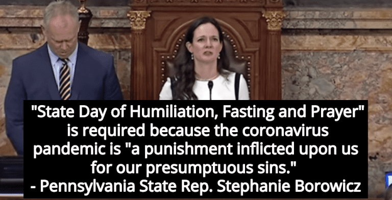 Pennsylvania Resolution Calls For 'State Day Of Humiliation' To Atone For Coronavirus (Image via Screen Grab)