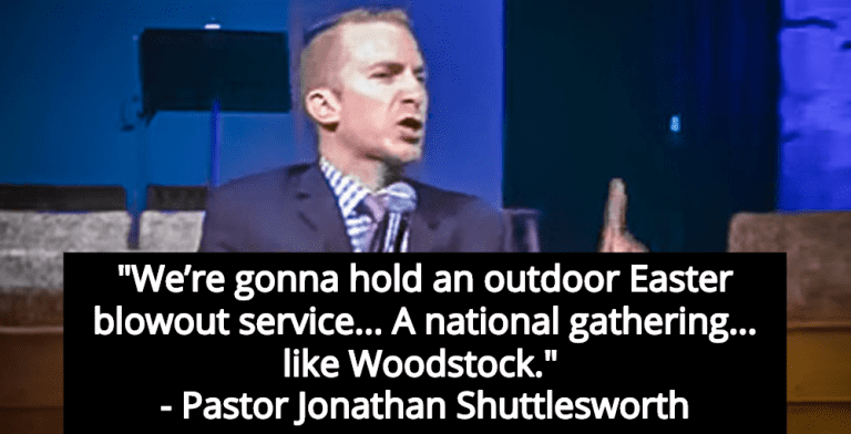 Pastor Ignores Pandemic - Announces National Easter Service 'Like Woodsstock' (Image via Screen Grab)