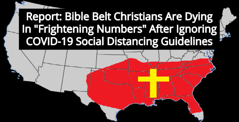 Report: Bible Belt Christians Are Dying After Ignoring Social Distancing Guidelines (Image via YouTube