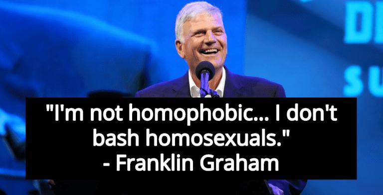 Homophobic Christian Hate Preacher Franklin Graham Claims He's 'Not Homophobic' (Image via Twitter)
