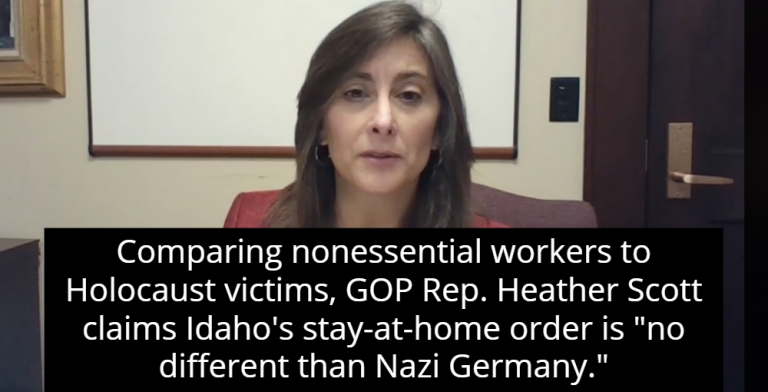 Idaho Lawmaker: Stay-At-Home Order 'No Different Than Nazi Germany' (Image via Screen Grab)