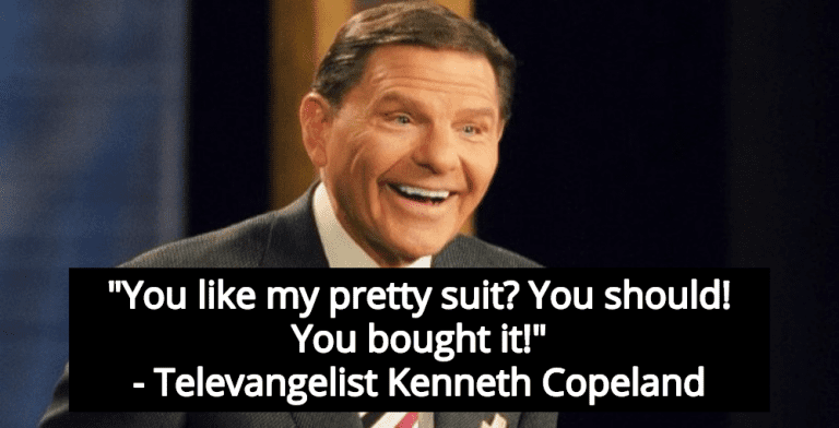 Televangelist Copeland Thanks Gullible Rubes For Buying Him New Jet Airplane (Image via YouTube)