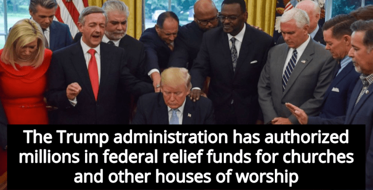 Trump Administration Using Relief Funds To Bail Out Churches, Pay Pastor Salaries (Image via You Tube)