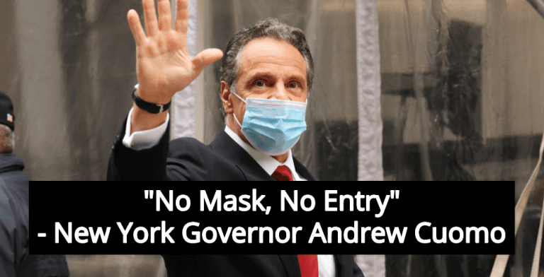 Cuomo Signs Order Allowing Businesses To Deny Entry To Individuals Not Wearing Masks (Image via Twitter)