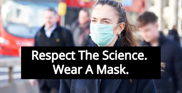Report: Study Shows Wearing Masks Reduces COVID-19 Spread By 75% (Image via Facebook)