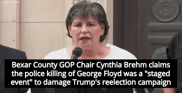 Texas County GOP Chair Claims George Floyd Killing Was 'Staged Event' To Damage Trump (Image via Screen Grab)
