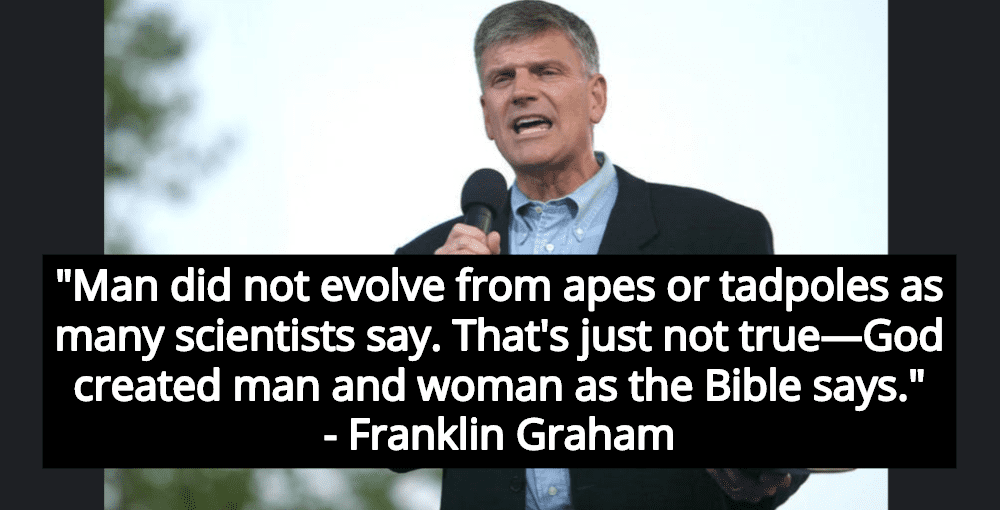 Franklin Graham Rejects Science, Claims 'Science Isn't Truth - God Is' (Image via Facebook)