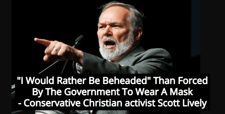 Christian Activist: I'd Rather Be Beheaded Than Wear A Mask (Image via YouTube)
