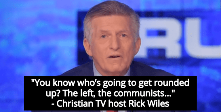Christian TV Host Happy That Trump Will Round Up And Torture Liberal Activists (Image via Screen Grab)