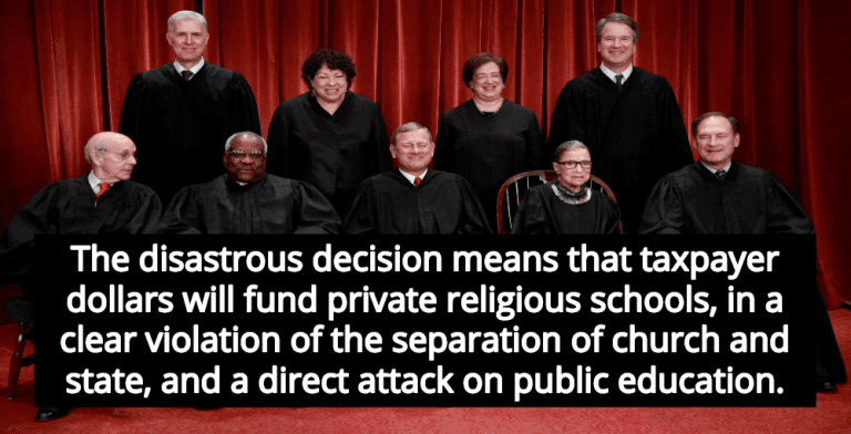 Supreme Court Rules Taxpayers Must Subsidize Religious Schools (Image via YouTube)