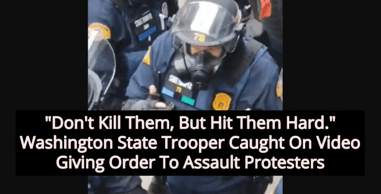 Report: Washington State Patrol Instructed Officers To Assault Protesters (Image via Screen Grab)