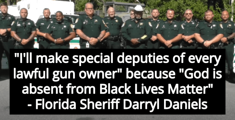 Florida Sheriff Promises To Deputize Gun Owners To Fight 'Godless' Black Lives Matter (Image via Screen Grab)