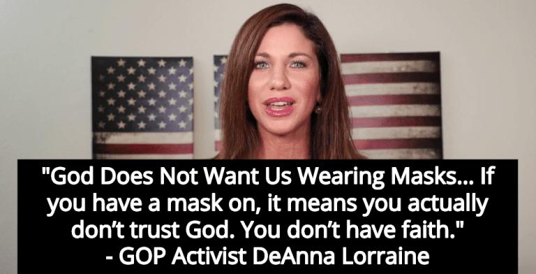 GOP Activist DeAnna Lorraine: 'God Does Not Want Us Wearing Masks' (Image via Facebook)