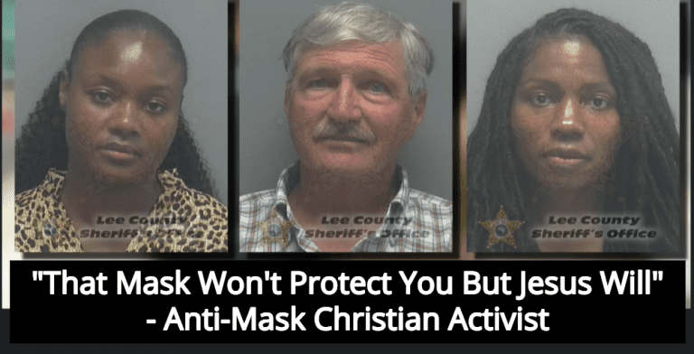 Three Christian Activists Arrested For Refusing To Wear Masks At City Council Meeting (Image via Screen Grab)