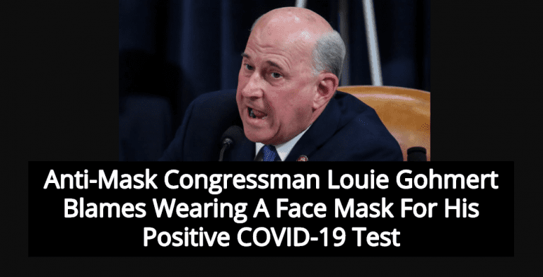 Anti-Mask Congressman Louie Gohmert Tests Positive For COVID-19 (Image via Screen Grab)
