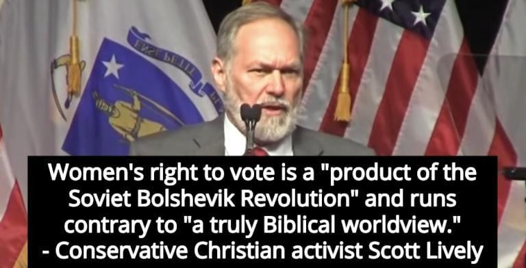 Christian Activist: Women's Right To Vote 'Product Of Soviet Bolshevik Revolution' (Image via Twitter)