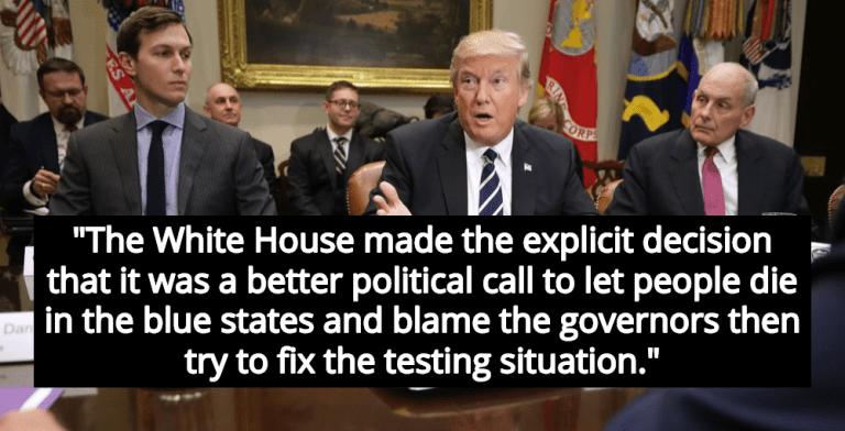 Report: White House Abandoned National Testing Because Virus Hit Blue States Hardest (Image via Twitter)