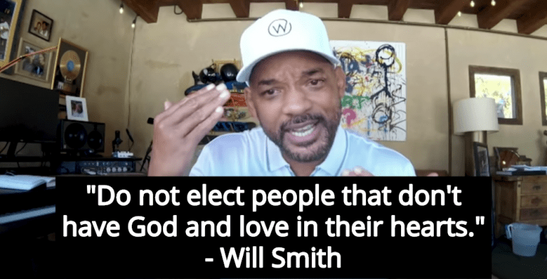 Will Smith Trashes Non-Believers, Urges Voters To Reject 'Godless' Candidates (Image via Screen Grab)
